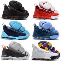zapatos altos 16 al por mayor-2019 Nuevo Lebron XVI 16 de alta calidad venta caliente zapatos de baloncesto para hombre zapatos de deportes al aire libre 16s hombres zapatillas de deporte zapatos