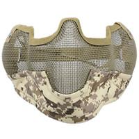 Wholesale steel mesh face mask for sale - Group buy Helmet Mask Half Face Guardian Metal Steel Net Mesh Camouflage Mask