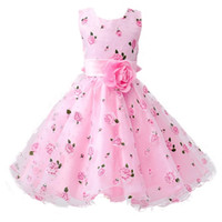 Wholesale thanksgiving clothes for kids for sale - Group buy New Girls Cotton Sleeveless Princess Dress with Flower for Children Clothes Kids Wedding Party Birthday Dresses Flowers Can Be Disassembled