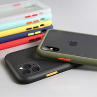huawei artan dostum deri kılıf kapağı toptan satış-iPhone 11 iPhone X XR XS Max Silikon Şeffaf Mat telefon kapağının yanlısı maksimum 7 8 Artı vaka için Lüks Darbeye Kılıf