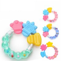 Wholesale rattle teether newborn for sale - Group buy Fashion Silicone Teether Creative Baby Pacifier Toys Infant Teething Rattle Newborn Nursing Teether Chewable Nursing Beads TTA1720