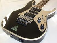 inlays de abalone guitarra elétrica venda por atacado-UV777 universo Steve 7 corda preta guitarra elétrica espelho Pickguard, Floyd Rose Tremolo, pirulito de desaparecimento de abalone Inlay, captadores de HSH