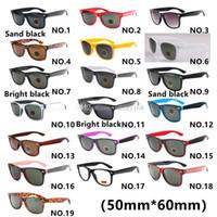 proteção contra uv óculos de esportes ao ar livre venda por atacado-Alta qualidade19 cor marca designer de moda homens óculos de sol uv proteção esporte ao ar livre mulheres do vintage óculos de sol retro eyewear