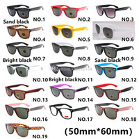 Wholesale uv protection eyewear resale online - High Quality19color Brand Designer Fashion Men Sunglasses UV Protection Outdoor Sport Vintage Women Sun Glasses Retro Eyewear