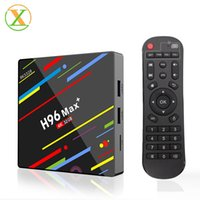 Wholesale tv box android cable for sale - Group buy H96 max plus RK3328 GB GB digital display cable tv Set top box with dual wifi smart tv box android