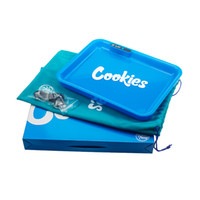 Wholesale steel builds for sale - Group buy Cookies Glow Tray Rechargeable Rolling Cigarette Tray mah Built in Battery LED Light Glowtray Quick Charge With Gift Packaging DHL Free
