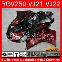 Wholesale fairing 1989 resale online - Bodys For SUZUKI RGV250 red flames hot VJ21 SAPC Frame HC RGV RGV VJ22 Fairing