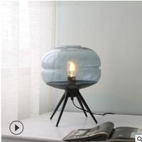 Wholesale legs lamp for sale - Group buy 2019 Nordic living room study bedroom glass desk lamp American minimalist four legged desk lamp