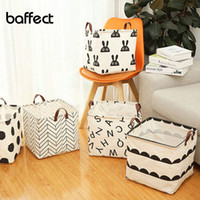 Wholesale bamboo clothes storage resale online - Square foldable Dirty clothes storage basket kids toys Organizer Clothes Storage Bag home Laundry Basket Sundries Storage