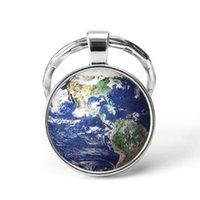 llavero mapa al por mayor-El más nuevo llavero de metal hecho a mano Vintage Boston World Map Earth Geography llavero cúpula de cristal llaveros para hombres mujeres regalo