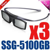 óculos 3d ativo samsung venda por atacado-3 pcs ssg-5100gb original 3d óculos de óculos ativo bluetooth para todos os óculos de série samsung / sony série ssg5100 3d
