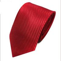 kore erkek bağları toptan satış-2019 Kravat Erkek Takım Elbise İş Profesyonel İş Saf Düz Çizgili 8 cm Kore Tie