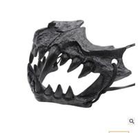 nuevo disfraz de tigre al por mayor-Nueva Halloween apoyos escritor japonés Kuruhito dragón Máscara de Cosplay del traje de Halloween funcionamiento apoya 15 * 11cm tigre Hag