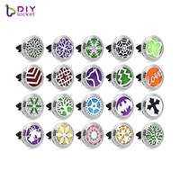 Wholesale essntial oil resale online - Crystal L stainelss steel Car Aromatherapy Locket Magnetic Essntial oil Diffuser Locket AH221
