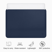 couro macbook pro 15 casos venda por atacado-Wiwu laptop sleeve para macbook polegadas water-resistant estojo de couro pu para macbook pro 13 de 15 polegadas ultra-slim laptop bag case