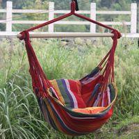 Wholesale swing color for sale – plus size Children Cloth Swing Camp Garden Hammock Hanging Cradle Bed Leisure Time Funny Armrest Color Bar Anti Wear xlf1