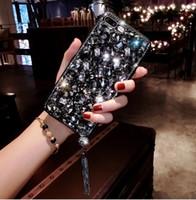 elmas kristal arka kapak toptan satış-Lüks Bling Rhinestone Kristal Rhinestone Arka Kapak Elmas Durumda iPhone 6 6 S 7 8 Artı iPhone X / Xs Max Xr