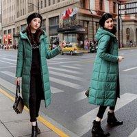 bayanlar kış parkaları satışı toptan satış-S-6XL sonbahar kış satış Kadınlar Artı boyutu Moda pamuk Aşağı ceket hoodie uzun Parkas Ceketler Kadın palto giysileri CJ191222 ısınmak