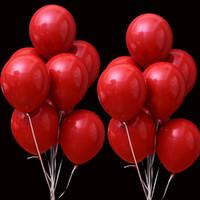 ingrosso valentines lattice palloncini-50pcs 10 pollici rosso rubino doppio strato palloncini in lattice palloncini gonfiabili matrimonio deacor San Valentino Rifornimenti del partito ti amo globos