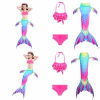 c58616893465d Hot sale top quality girls Mermaid swimsuit big children s Mermaid tail  swimwear 3pcs lot set baby girls  bathing suit kids beach wear
