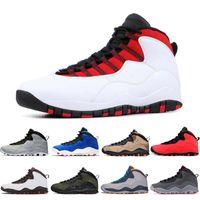 ich rauche großhandel-Nike Air Jordan Retro 10 10s Jumpman 10s Herren Basketballschuhe Tinker 10 Fusion Red SMOKE GREY Cement Ich bin zurück Chicago Bobcats Herren Sneakers