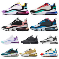 Wholesale green army boots resale online - React Men Running Shoes Bauhaus Dream Capsule Dusk Purple Script Sea Green BLEACHED CORAL Women Mens Trainers Athletic Sports Sneakers