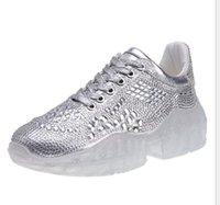 şeffaf kristal taşlar toptan satış-2019 ilkbahar ve yaz bayanlar haber sıcak satış rhinestones eski ayakkabı vahşi moda kristal ayakkabı Kore versiyonu şeffaf alt kadın