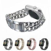 metall kettenuhren großhandel-Mode-Metallketten-Bügel für Apple Watch 4 Band 304 Edelstahl Ersatzarmband für iWatch 4/3/2/1 Armband mit Schnalle