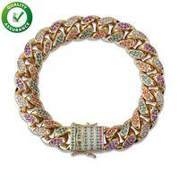 Men Pandora Style Bracelet Luxury Designer Hip Hop Jewelry Diamond Tennis Bracelets Iced Out Chains Gold Bangle Micro Paved Bling CZ Charm