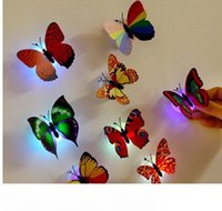 Wholesale indoor light bar for sale - Group buy Led Colorful Butterfly Night Light New Indoor Flashing Wall Lights Wedding Bar Room Christmas Party Festive Decoration Supplies Home PX T09
