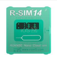 kostenlose kartenmodelle großhandel-Original und brandneue RSIM14 RSIM 14 Karte zum Entsperren des iPhones, kompatibel mit ALLEN IOS und Modell mit kostenlosem Versand