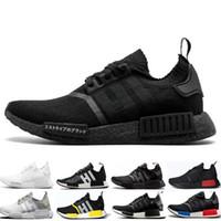 ef175c095a6a8 Cheap NMD R1 Running Shoes OG Japan Triple black White Solar Red Core Oreo  Men Women Designer Trainer Sport Sneaker Size 36-45