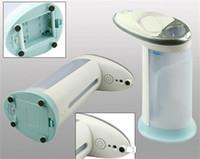 automatische handseifenspender großhandel-Automatische Induktion Flüssigseifenspender Kunststoff ABS Bad Küche Seifen Magie Hände Sanitizer Dispenser Mit Paket Box 20 bn R