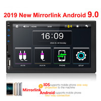 Wholesale auto radio dvd android for sale - Group buy 2 din car radio quot HD Touch Screen Player mirrorlink Android Iphone MP5 SD FM MP4 USB AUX Bluetooth Car Auto Audio For Camera