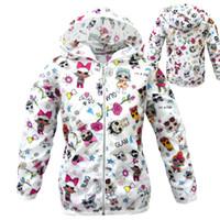 yürümeye başlayan kız için ceket toptan satış-Giysi Tasarımcısı Erkek Bebek Kız Güneş Koruma Giyim Çocuk Yaz Ceket Karikatür LOL Giysileri Toddler Bahar Ceket Çocuk Mont