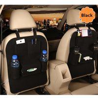 Wholesale auto travel accessories resale online - Car Back Seat Rear Trunk Elastic Felt Storage Bag Pockets Organizer Hanging Auto Travel Holder Anti Kick Car Accessories
