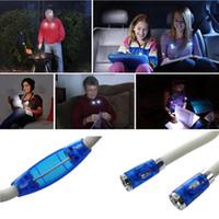 lampes de poche mini nouveauté achat en gros de-Mini LED mains libres flexibles LED cou lumière câlin livre lampe de lecture câlin lumière nouveauté LED nuit lampe de poche