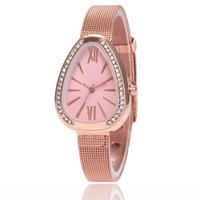 Wholesale korean oval glasses resale online - 2018 new WISH alloy bracelet wrist Guo Huang network foreign trade hot explosion models ladies Korean watch birthday gift ladies watch