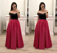 Wholesale new formal evening gowns for sale - Group buy Stylish Prom Dresses Off Shoulder A Line Floor Length Formal Party Evening Gowns Modern Special Occasion Dresses New Vestidos De Fiesta