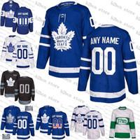 ingrosso foglia di acero bianco-2019 Custom Toronto Maple Leafs uomo donna gioventù matthews Tavares Bianco Verde camo verde Royal Blue Hockey Jersey cucita