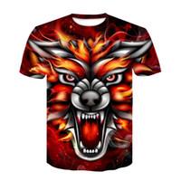 fuchshemd frauen großhandel-Brand Fox 3D-Druck T-Shirt Männer Frauen T-Shirt Sommer lässig Kurzarm O-Neck Shirt T-Shirt 2019 neue Ypf263