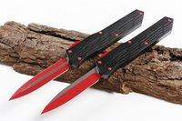 cuchillos recubiertos de titanio al por mayor-A1 Munroe Cypher AUTO Cuchillo táctico D2 Hoja recubierta de titanio T6061 Manija 2 Modelos de estilos de hoja opcionales EDC Herramientas
