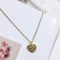 geprägtes herz großhandel-Designer Schmuck Halskette 925 Silber vergoldet Retro Herz Anhänger Halskette Luxus Damen Accessoires Schmuck