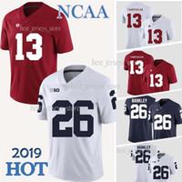 ingrosso penn state nittany leoni-13 Tua Tagovailoa maglie 26 Saquon Barkley Penn State Nittany Lions Alabama Crimson Tide maglia da calcio College NCAA qualità superiore