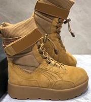 Wholesale high fenty shoe for sale - no good price women ladies running shoes Rihanna x FENTY Sneaker Boot Shoes FENTY BEAUTY BY RIHANNA High barrel warming slim boots