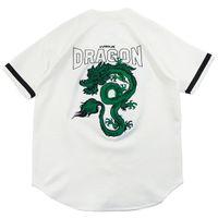 dragão chinês verde venda por atacado-Chinês Dragão Verde Camisa Hip Hop Streetwear Camisa Dos Homens Bordados Retro Vintage Harajuku Tops Camisa de Manga Curta Verão 2019