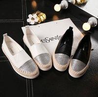 sapatos de enfermagem de moda venda por atacado-Moda Plana Sapatos Pretos para As Mulheres Casuais Deslizamento em Mocassins Flats Sapatos Da Enfermeira Sapatos Mulher Espadrille Tenis Plus Size