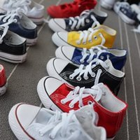 Wholesale children shoes star resale online - Children Shoes For Girl Baby Sneakers New Spring Fashion high low Canvas Toddler Boy Shoe Kids Classic star Canvas Shoes
