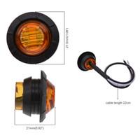 led-seitenlicht großhandel-10X 3/4 Zoll Runde LED Vorne Hinten Seitenmarkierungsleuchte Wasserdicht Bullet Clearance Markierungsleuchte 12V für PKW LKW