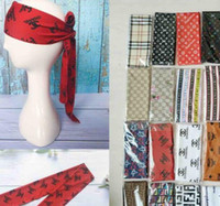 Wholesale silky scarves for sale - Group buy Free Ship Head Scarf Tie on the head Durag Headband Pirate Hat Bandanas For Adult Headbands Silky Durags Headwraps Hip hop Caps